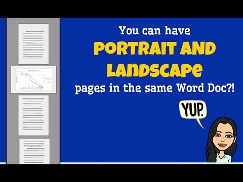 how to make woed document landscape