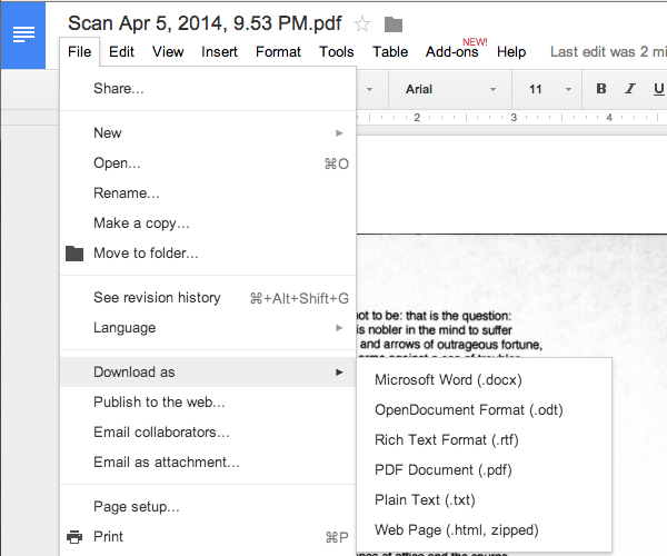 how to ocr a document