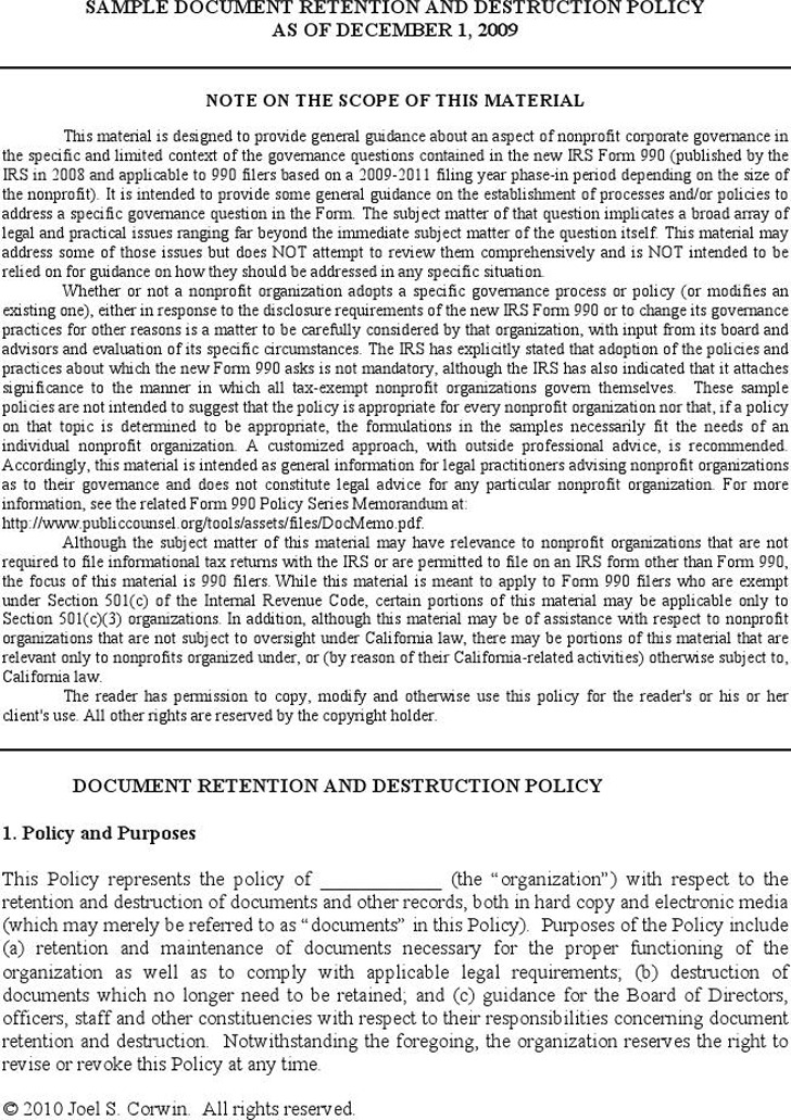 policy is a living document