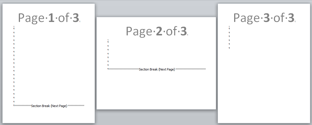 landscape one page in word document