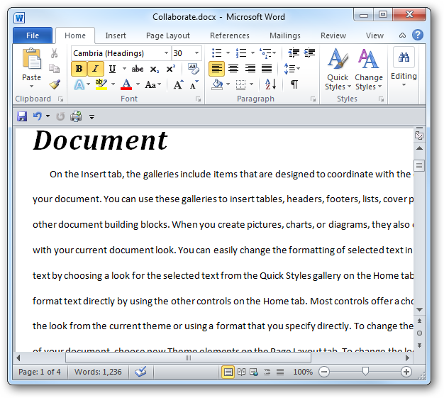 change word document page layout for one