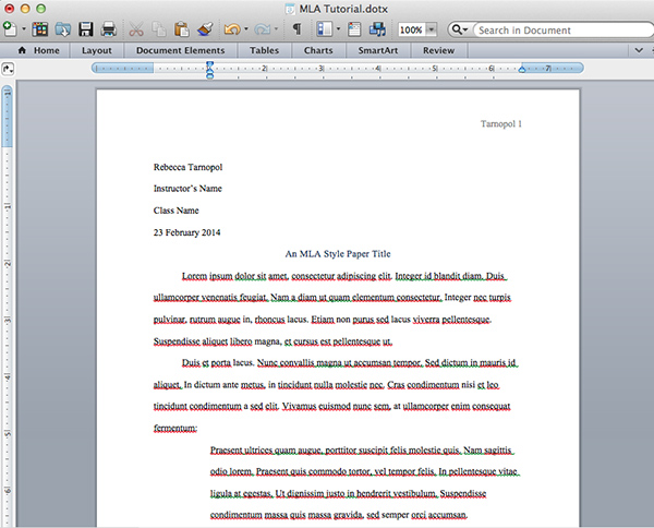 how to create a long document in word