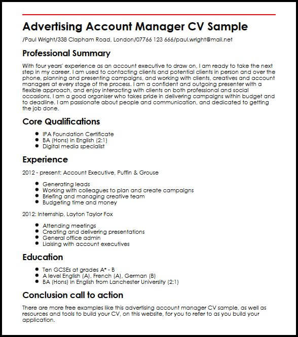 accounting resume sample word document