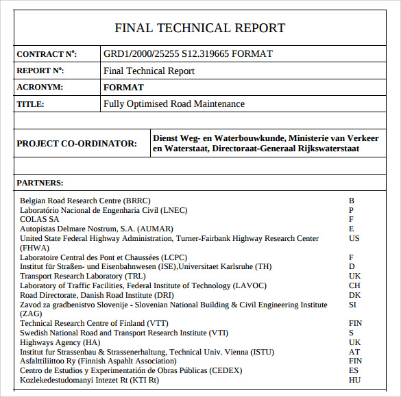 how to write a technical document examples