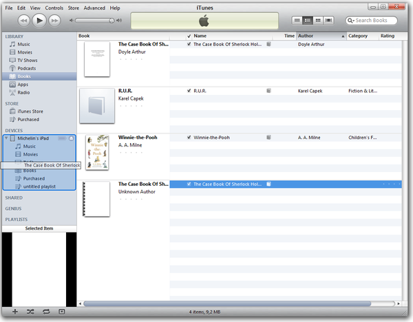 how do i save a document file in itunes