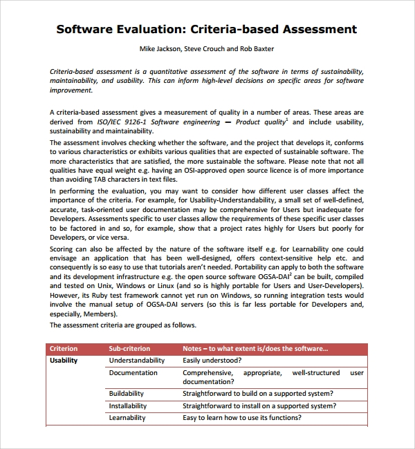 document the team evaluation of the risk analysis template