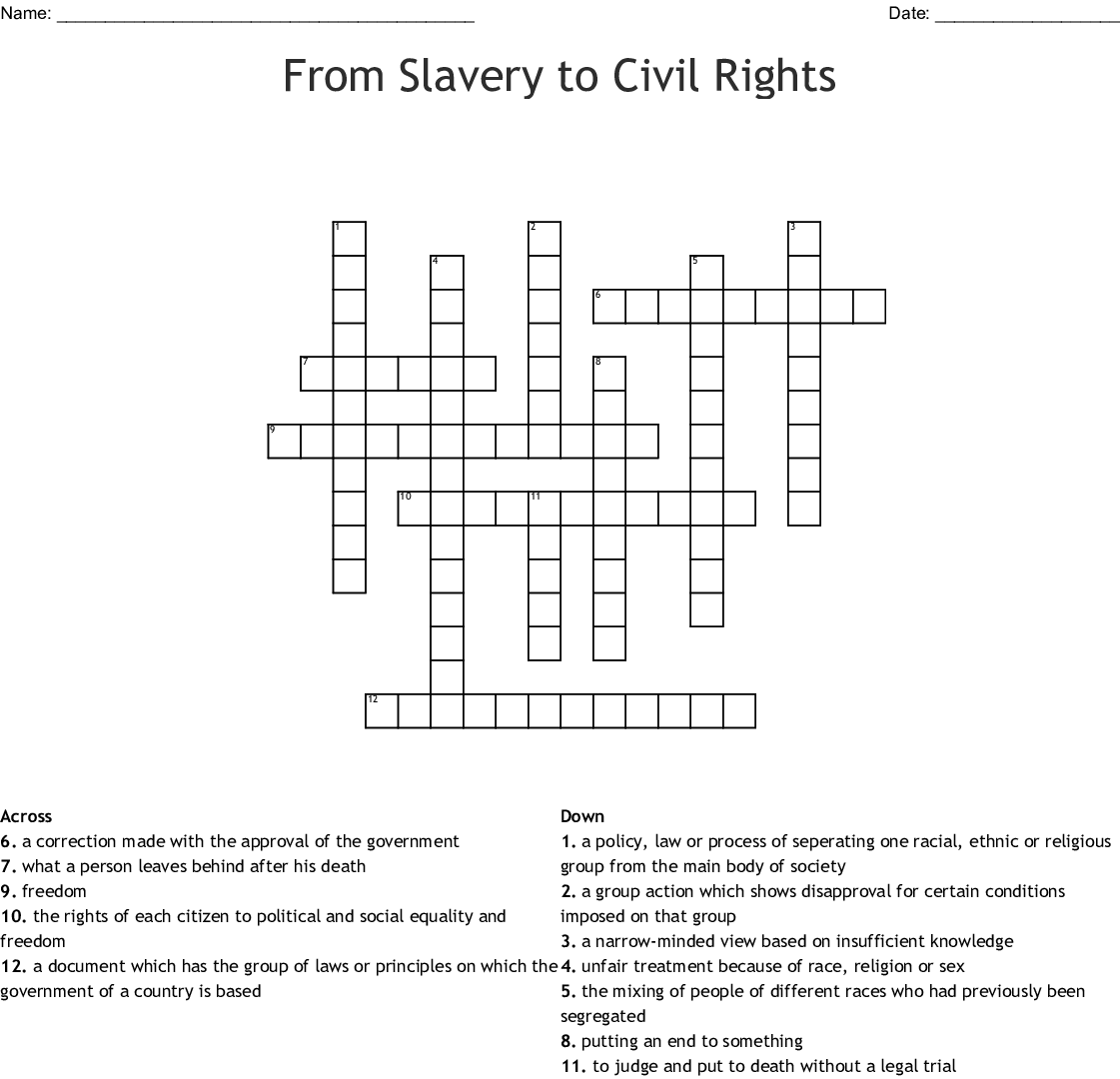 civil rights document based questions answers