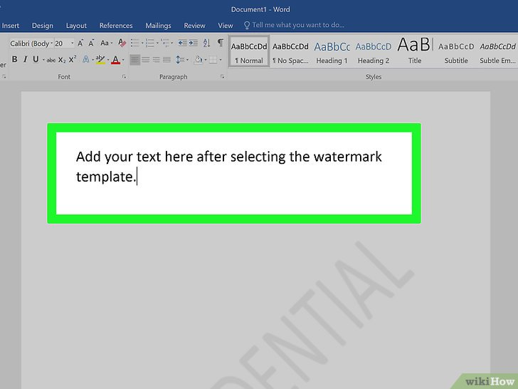 how do i remove a watermark from a word document