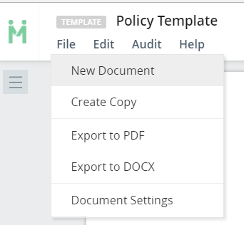 how to create a new document template