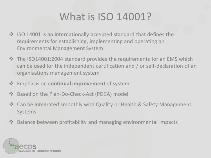 iso 14000 environmental management system document control