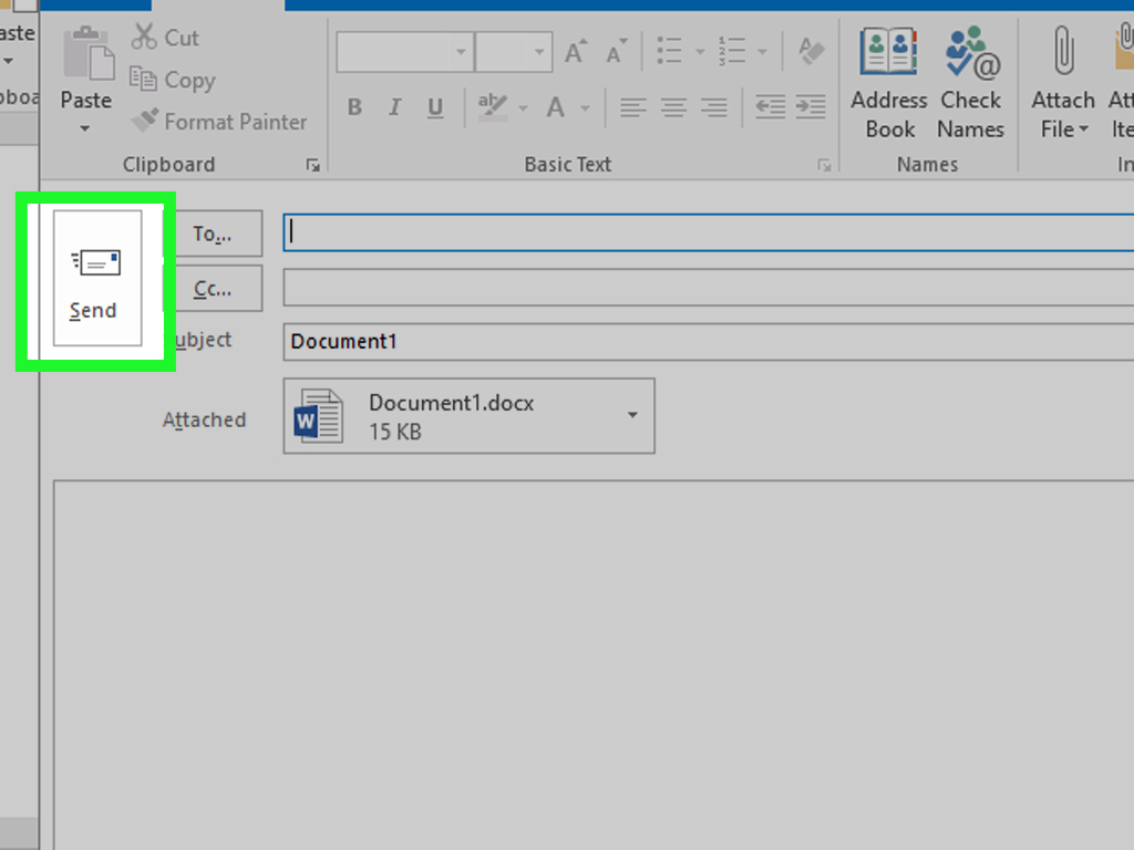 how to forward a word document