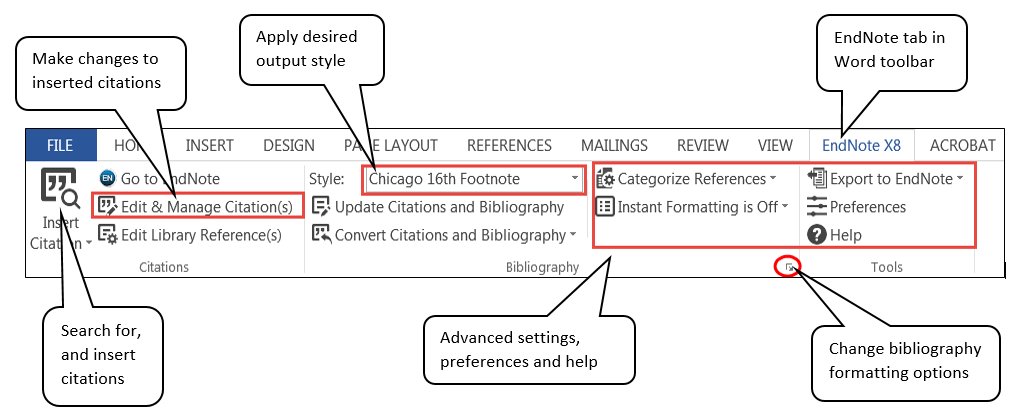 how to link word document to endnote library