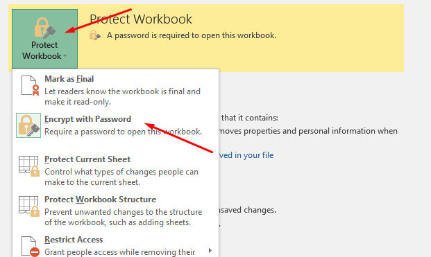 remove password from excel document