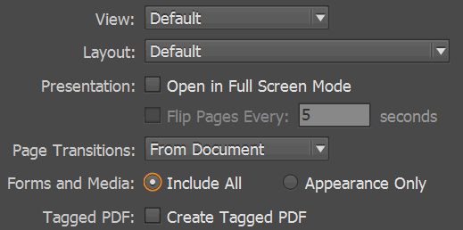 save indesign document as pdf