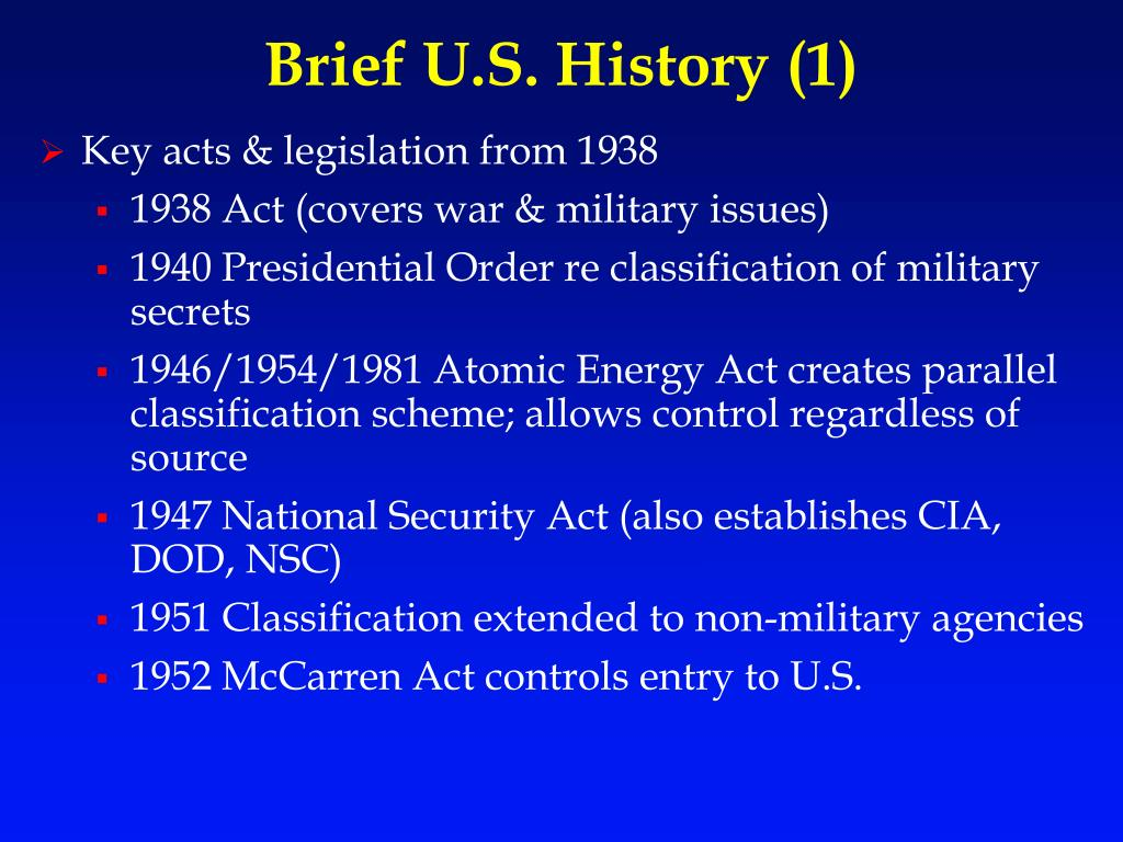 export control act of 1940 document