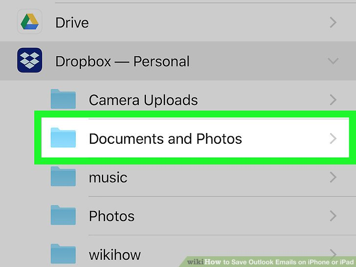 save a document from email on ipad