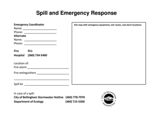 spill documentation in hospital