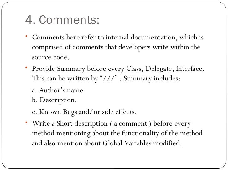 standards for user documentation
