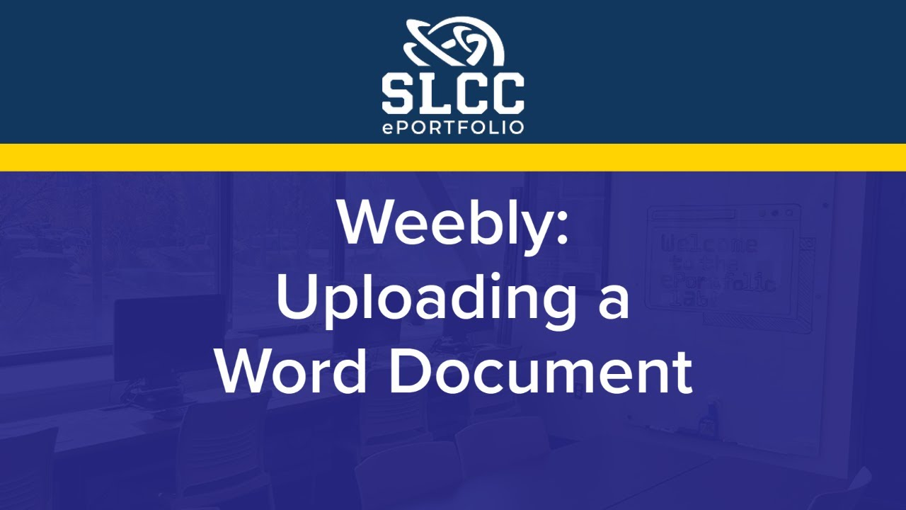 load a word document to weebly