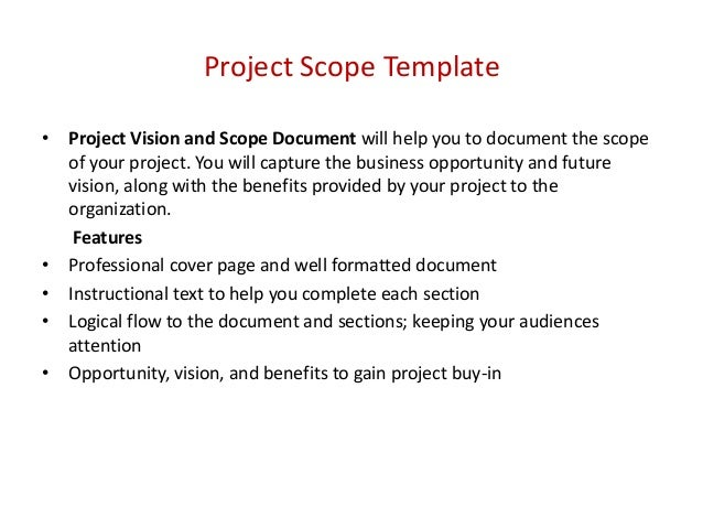 develop and document the scope management plan