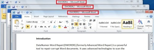 how to make a word document devide in two part