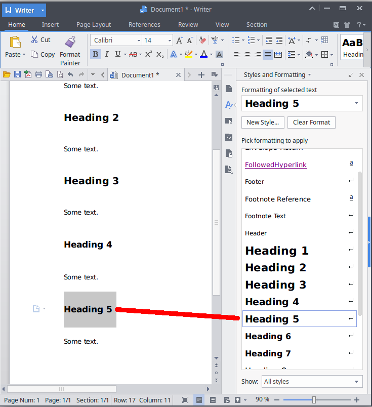 ms word 2016 select document style