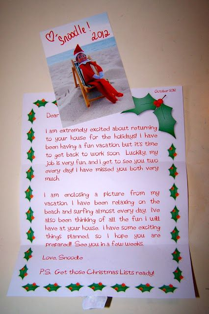 elf on the shelf welcome letter word document
