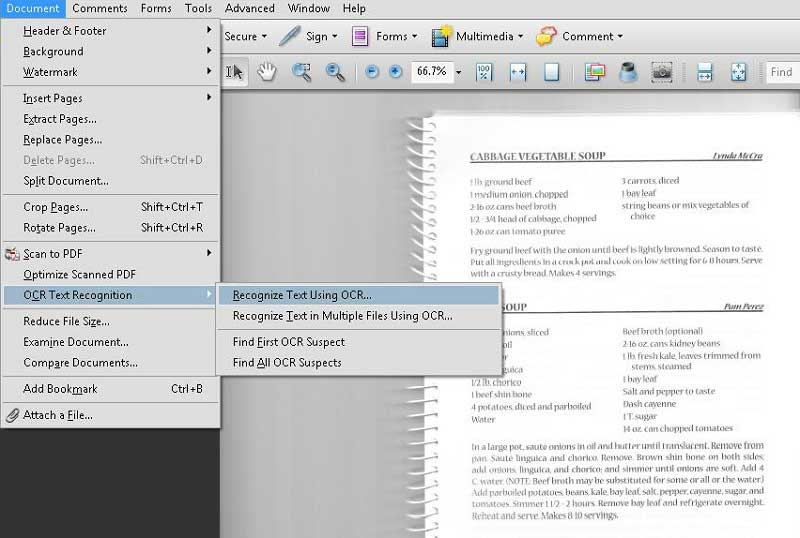 how to edit a scanned pdf document in adobe reader