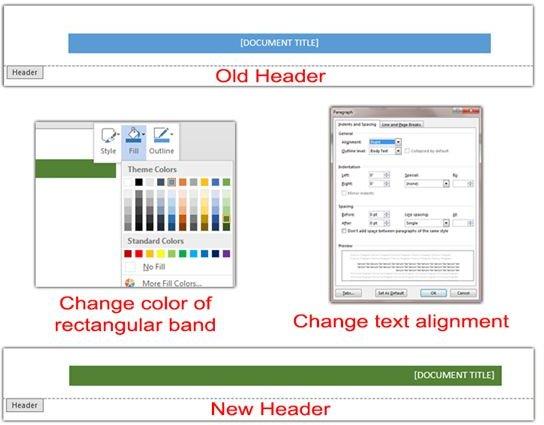 pre designed word document header