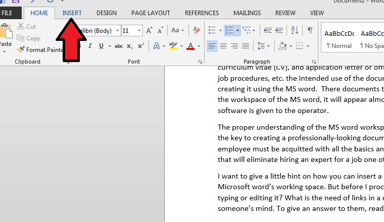 how to add a link to a word document