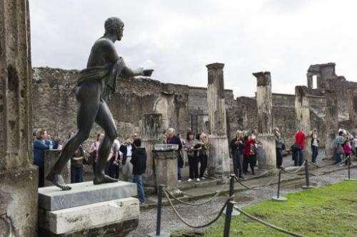 documentation of the site of pompeii
