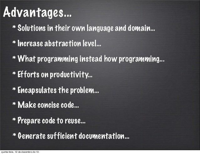advantages of internal documentation in programming