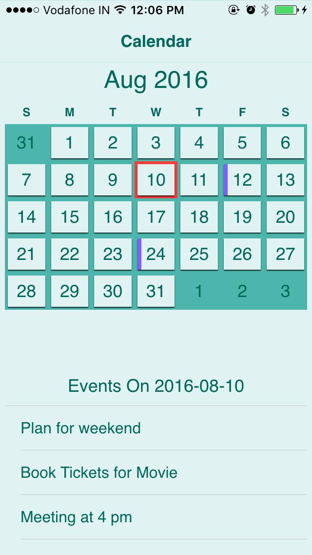 ios calendar api documentation