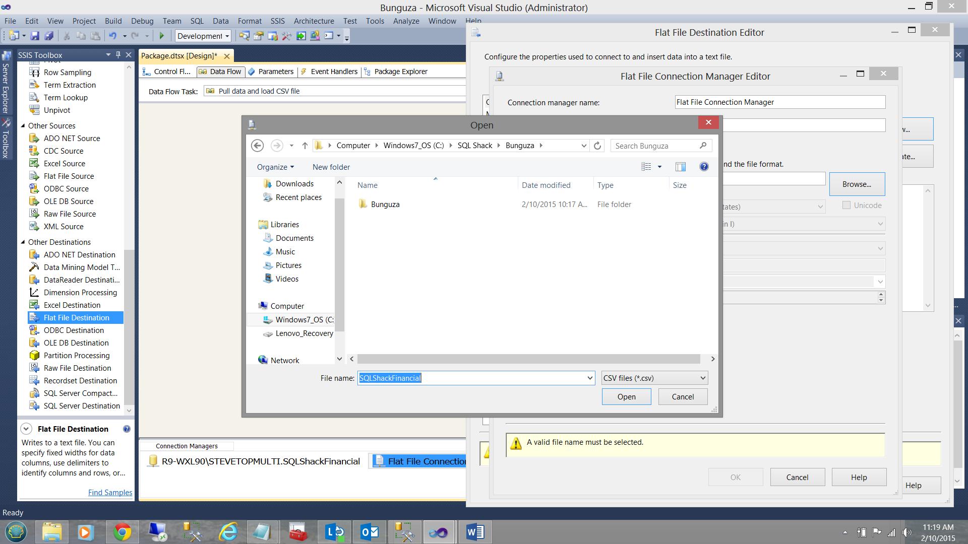 output migradoc document to csv