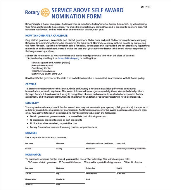 document addressing selection criteria template