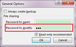 change an excel document from read only