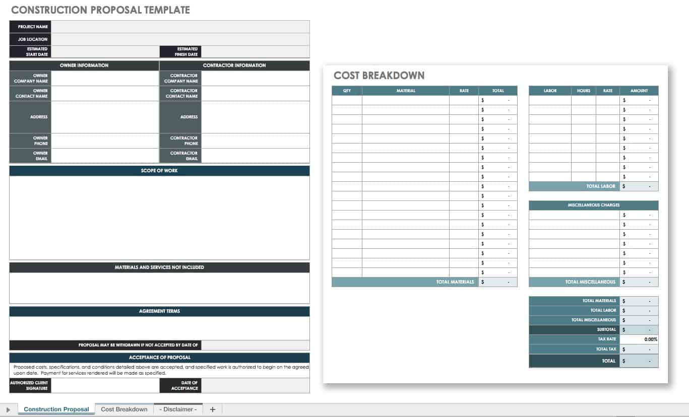 construction project documentation template