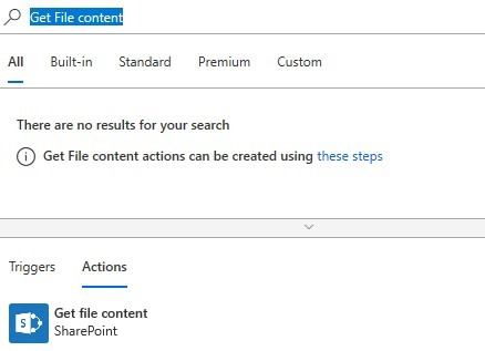microsoft flow send document url from sharepoint