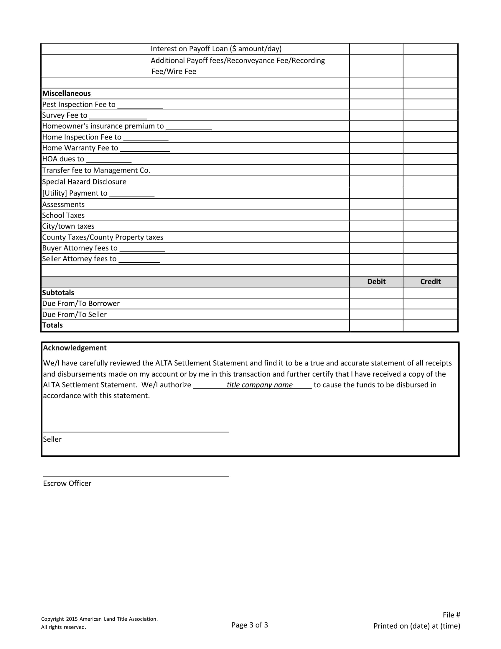 what does title document show