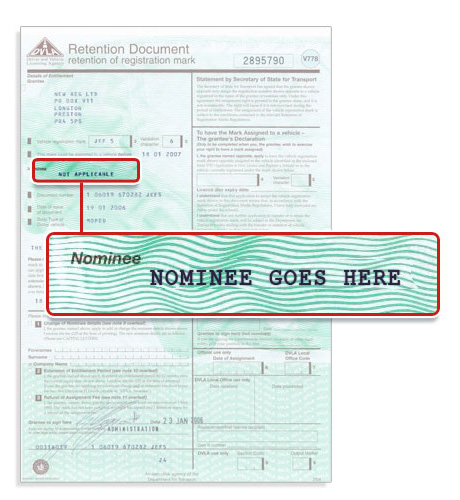 what is found on a vehicle registration document