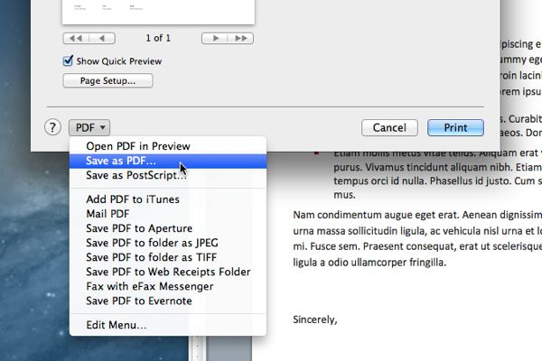 how to turn a document into a pdf mac