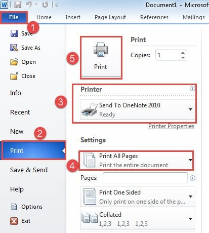 how to send a microsoft word document as a pdf