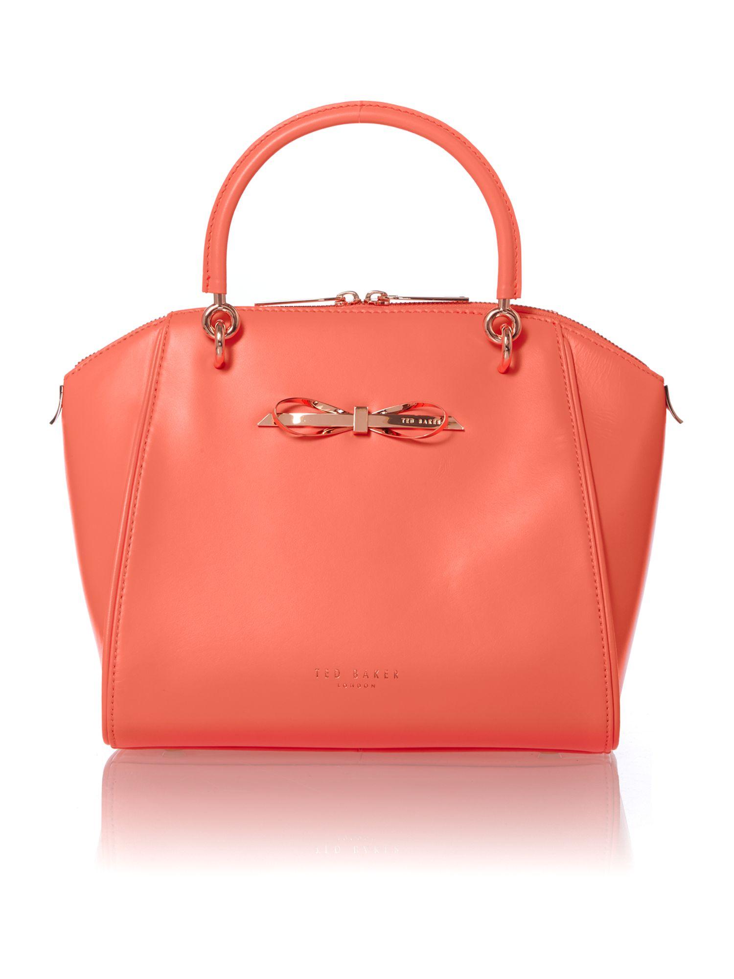 ted baker orange leather document bag