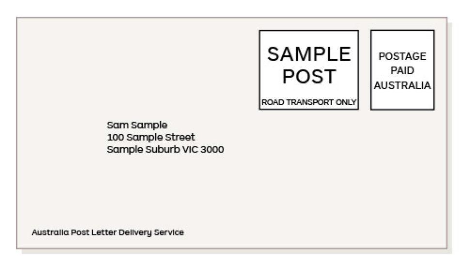 australia post presort letters lodgement document