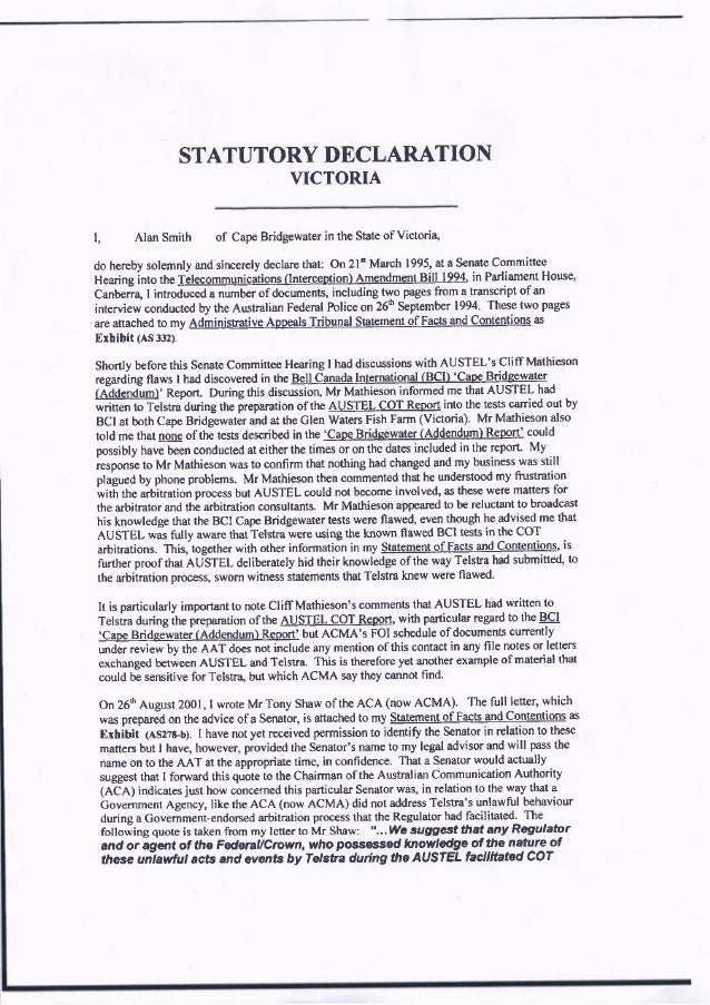 statutory declaration word document victoria