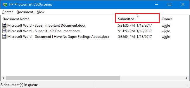how to remove a document stuck in the print queue