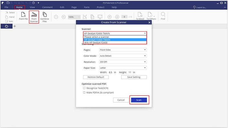 pdf document scanner windows 10