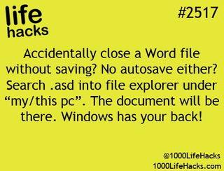 forgot to save word document how to recover