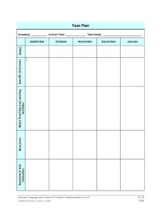 forward planning document template education