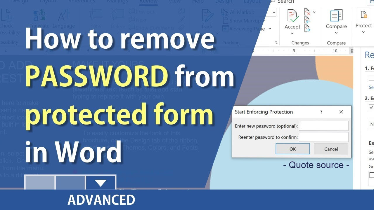 remove password from word document 2016